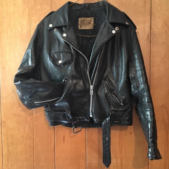 Vintage Leather Jacket >> Vintage Jackets Coats Womens Leather Jacket Poshmark